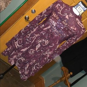Free People lacey purple dress sz S